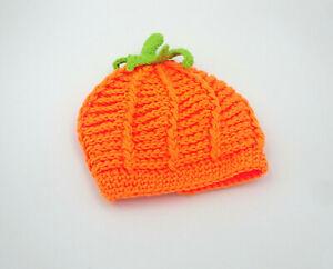PatPat Halloween Baby Mütze Kürbis Strickmütze One Size NEU