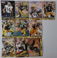 1991 Pro Set Series 1 Green Bay Packers Team Set 10 Football Cards