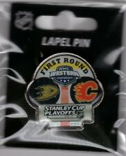 2017 NHL PLAYOFFS PIN DUEL 1ST ROUND CALGARY FLAMES VS ANAHEIM DUCKS STANLEY CUP