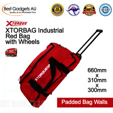 Xtorque XTORBAG Industrial Red Tools Bag with Wheels Tote Carry On Storage