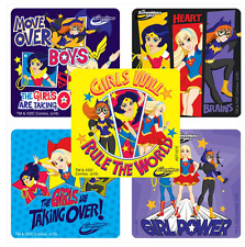 "25 DC Super Hero Girls Girl Power Stickers,, 2.5""x2.5"" each, Party Favors"