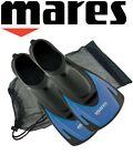Mares HERMES ADULTS Swim Snorkel Training Short Fins Flippers + FREE BAG - BLUE