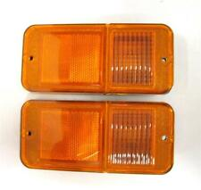 1968 - 72 Chevy Truck Pickup Front Side Marker Lamp Lens Pair AMBER Without Trim