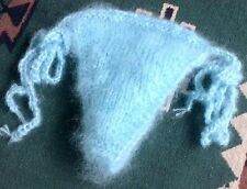 Soft hairy~Luxury Mohair~sweater~Thong light Blue hand knitted by uniquemohair