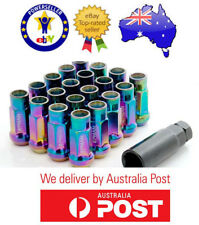 FORD FALCON XR6 NEO CHROME STEEL WHEEL LUG NUTS EXTENDED OPEN END JDM JAP 20PCS