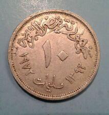 Egypt 10 Milliemes coin 1972
