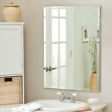 30 X 40 Inch Rectangle Wall Mounted Mirror With Beveled Edge Backed with panel