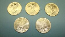 LOT OF ( 5 ) BU FRESH FROM US MINT TUBE 1993 AMERICAN SILVER EAGLES LOW MINTAGE