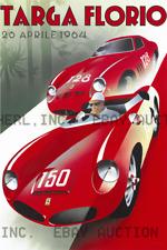 1964 Targa Florio automobile auto race advert ca 8 x 10 print prent poster