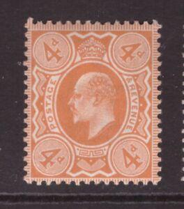 King Edward VII 4d  Orange MINT NEVER HINGED MNH