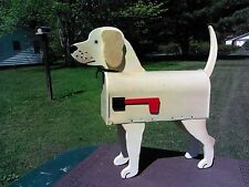 💗 Yellow Lab Mailbox Custom Animal Mailboxes Postal Mail Box Dog