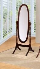 Free Standing Floor Mirror Stand Up Adjustable Full Length Wood Mirrors Espresso