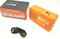 Caline S7 Scuru 3w Portable Mini Guitar Amp with Distortion. Orange (UK)
