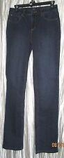 "New *JONES OF NY* Cotton Blend ""Secret Slimming"" Indigo Dark Blue Jeans, 4R"