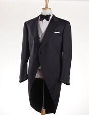 NWT $8995 BRIONI Three-Piece Wool Morning Suit Stroller Slim 44 R Tuxedo