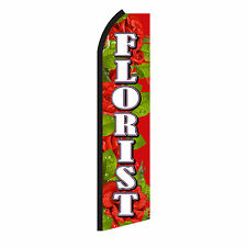 Florist Roses Advertising Sign Swooper Feather Flutter Banner Flag Only