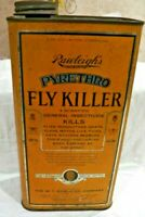 Vintage Original Rawleigh's FLY KILLER Pyrethro Metal Can Great Graphics 1/2 Gal
