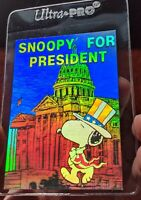 Vintage 1992 Peanuts -  Snoopy For President - Hologram Collectible Trading Card