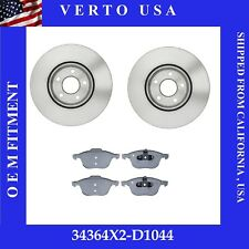 Front Brake Rotors Pads For Ford Escape 1.5L ,1.6L FWD, 2.5L 2013 2014 to 2018