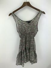 URBAN BEHAVIOR Ruffled Sheer Floral TOP TANK Camisole Size XS