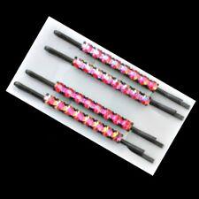 4 Pinces à cheveux épingles strass - rouge -  6cm -  Red diamanté hairgrips