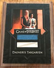 Game of Thrones Season 7 relic card VR6 Daenerys Targaryen DUAL RELIC solid
