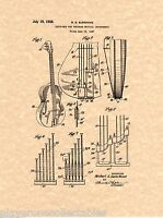 Ludwig Speed King Patent Print Ready To Be Framed! Bass Drum Pedal 1938