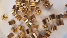 #5  X Shape Zipper Bottom Stop PKG of 50 Brass Closure