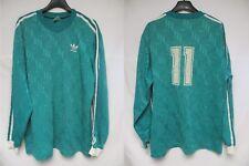 507afbb4a92dc Maillot ADIDAS porté n°11 vert vintage trefoil shirt manches longues trikot  L