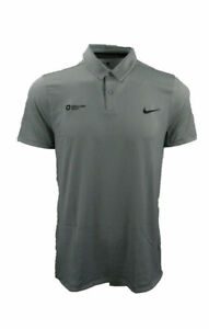 Nike Golf Modern Fit UV Protection Stay Cool Men's Grey Polo Shirt Size L-725507