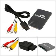 New 6FT Audio Video AV Cable Cord + 16 MB Memory Card for Nintendo GameCube N64