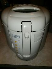 DeLonghi White 2.1 Qt Quart Indoor Electric Deep Fryer Kitchen Countertop