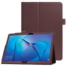 Folio De Cuero Protector Caso delgado Soporte Funda para Huawei MediaPad T3 10