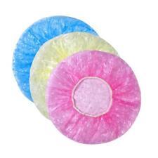 Watertightness 3Pcs Women Elastic Plastic Dot Shower Bathing Salon Hair Caps