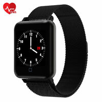 Smartwatch M19 OLED Bluetooth Pulsuhr Magnetverschluss Wasserdicht iOS Android