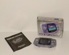 Nintendo Gameboy Advance - Clear Galcier - Boxed - FREE UK DELIVERY