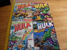 The Incredible Hulk 170 179 190 218 VG-VF comic book lot of 4