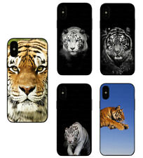 Tiger Animal Pattern Design Rubber Phone Case Cover For iPhone / Samsung / LG
