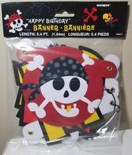 Pirate Happy Birthday Banner (Unique Industries)