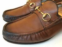 GUCCI Mens 1953 Roos Horsebit Mahogany Brown Leather Loafers UK 13 (US 13.5)*