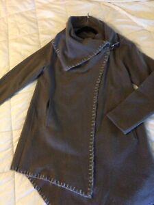 Garnet Hill asymetrical boiled wool coat size 10
