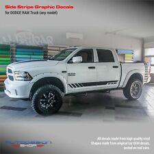 Side stripes design decals set for Dodge RAM