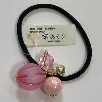 Japanese Hair Elastic Tie Candy Boll Cute Kawaii Pink from Kyoto Japan
