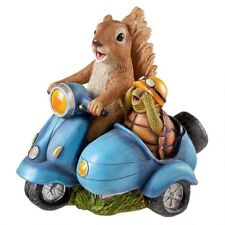 "Born To Be Wild Squirrel On Motorcycle Design Toscano 10½"" Forest Animal Statue"