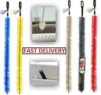 Long Reach Flexible Radiator Heater Heating Bristle Brush Dust Cleaning Cleaner