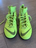 Youth Size 6 Nike Mercurial Superfly Indoor Youth Soccer Shoes Yellow