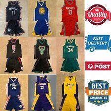 Kids basketball jerseys set, Irving,Curry,Harden,Leonard,Bucks,Simmons, AU stock