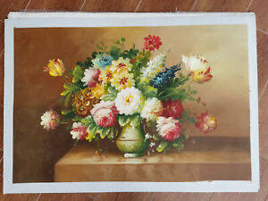 Hand made Modern abstract Oil Painting on Canvas Flower no frame #I078