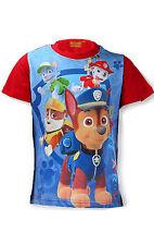 Niños Oficial Patrulla Canina Manga Corta Camiseta 100% Algodón Edad 3-8 Años