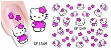 Hello Kitty Nail Art-Package of Water Transfer Nail Stickers/Decals-VERY CUTE!!!